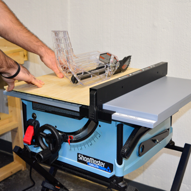 Delta ShopMaster S36-290 10 in. Portable Table Saw Action Shot