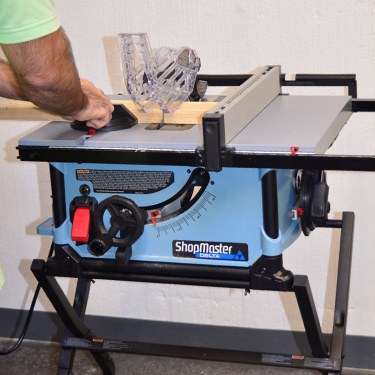 Delta ShopMaster S36-300 10 in. Portable Table Saw Action Shot